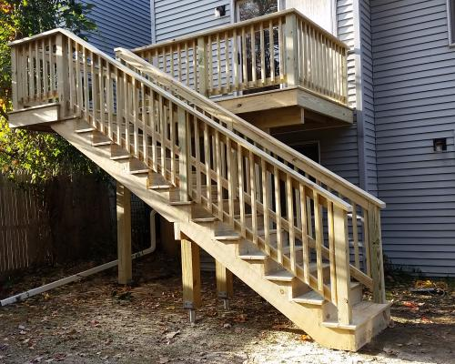 Soanes 2nd Story Pt Deck Finished Otterbeck Builders